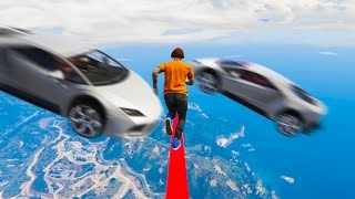 IMPOSSIBLE! DODGE THE CARS ON A TIGHTROPE! (GTA 5 Funny Moments)