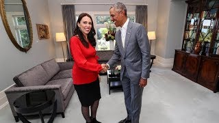 Barack Obama receives once in a generation official welcome to New Zealand