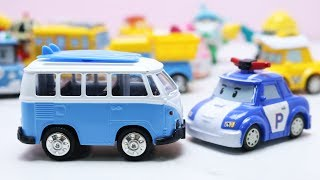 เรียนรู้ชื่อรถก่อสร้าง รถของเล่นโรโบคาร์ โพลิ Robocar POLI