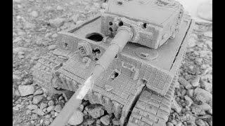 танк тигр  самый приятный для обстрела танк в мир моих танков из пластилина