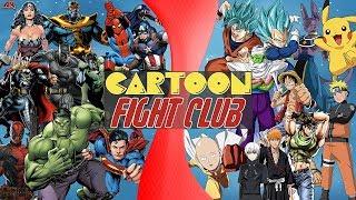 Comics VS Manga (Marvel & DC vs Dragon Ball Super, Naruto, Pokémon, One Piece) CARTOON FIGHT CLUB