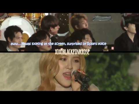BTS reaction to Rosé, Chanyeol, Jihyo & 10cm performance
