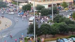 Assalto pullman tifosi Verona a Palermo (17-08-2013)
