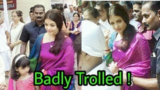 Aishwarya Rai bachchan got badly trolled by people in durga pooja   Latest Shocking