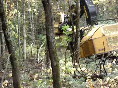 2008 845C Tigercat harvester w the 5702 head and 340 degree high rotation wrist in Maine