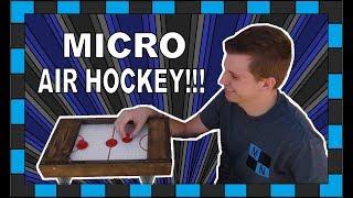 Mini Air Hockey Table!!! // How To Build A Mini Air Hockey Table!!!
