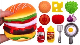 Learn Colors Wooden Toys Fruit Cutting Burger Microwave Just Like Home Video for Kids