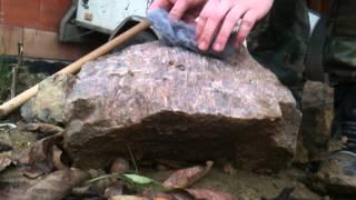 Rozdělávání ohně - krumpáč a ocelová vata