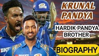 Hardik Pandya Brother || Krunal Pandya Biography
