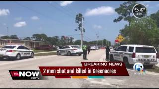 Two males found fatally shot in Greenacres