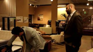 Businessmen Furniture Shopping