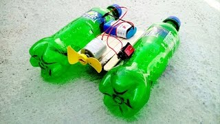 How to Make Boat with Plastic bottle !! AWESOME IDEA !!