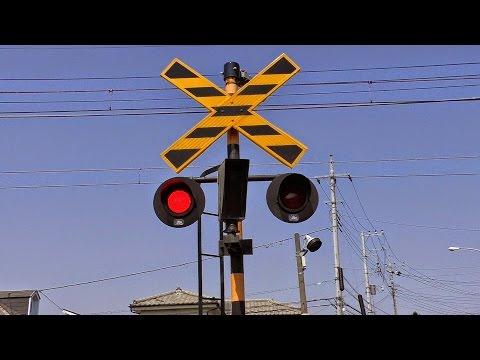 踏切動画 東武電車 第151号 railroad crossing train