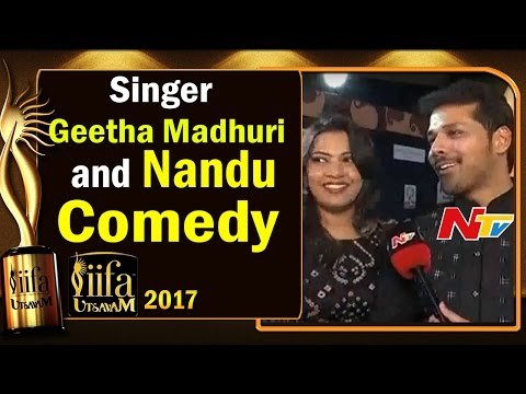 Singer Geetha Madhuri and Nandu Comedy @ IIFA Utsavam || #IIFAUtsavam2017