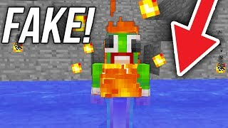 FAKE vs REAL WATER TROLLING! (Minecraft SKY WARS)
