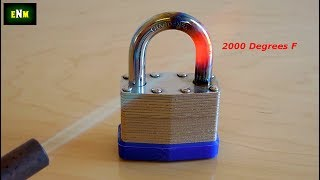 How To Cut A Padlock Shackle With A Hacksaw