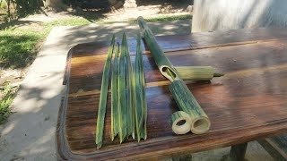 How to Make Bamboo Gun that Can Shoot Coconut Leaf