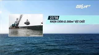 VTC14 |Quảng Ngãi lại cho phép nhận chìm 62.000m3 bùn thải xuống biển