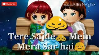   Heart touching 💓  New whatsapp status 💓💓/ Dil Na Tude Khuda Ka Ghar Hain song   