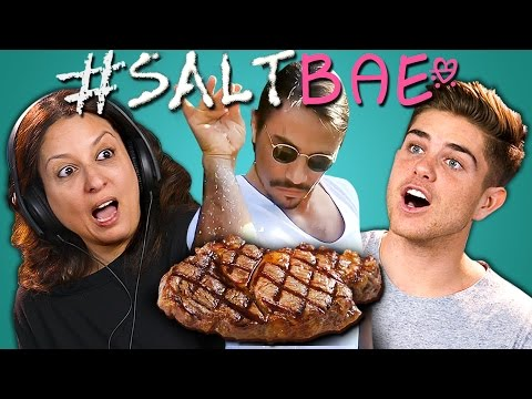 ADULTS REACT TO SALTBAE MEME COMPILATION Oddly Satisfying Salt Bae Videos