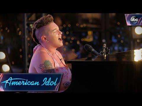 Effie Passero Surprises Judges With Original Tune on Piano - American Idol 2018 on ABC