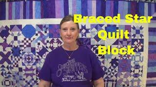 Braced Star quilt block.