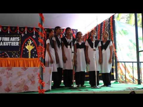 HEAL Paradise Village School girls sing a Telugu song at the Bala Kuteer fine arts festival