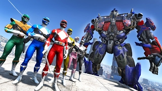 POWER RANGERS VS OPTIMUS PRIME TRANSFORMERS GTA 5 MOD