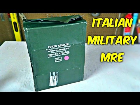 Testing Italian Military MRE 24Hr Combat Food Ration