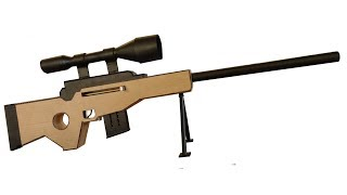 How To Make Cardboard Sniper Rifle from FORTNITE that SHOOTS