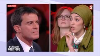Débat sur le port du voile entre Manuel Valls et Attika Trabelsi