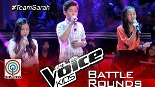 """The Voice Kids Philippines 2015 Battle Performance: """"True Colors"""" by Alexia vs Kyle vs Jolianne"""