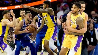 Brandon Ingram Game Winner vs 76ers! Ben Simmons Triple Double! 2017-18 Season
