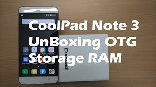 Coolpad Note 3 Unboxing & USB OTG Check