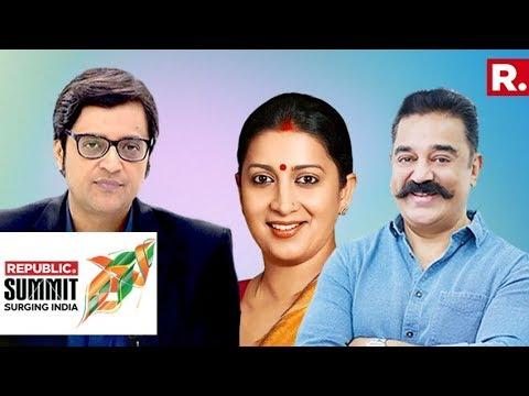 Xxx Mp4 What S The 2019 Narrative Smriti Irani Kamal Haasan Speak To Arnab Goswami Republic Summit 2018 3gp Sex