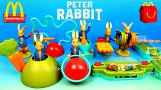 2018 McDONALD'S PETER RABBIT MOVIE HAPPY MEAL TOYS FULL SET 9 EUROPE USA UK KIDS WORLD COLLECTION