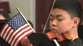 Teens prep for performance fit for a president