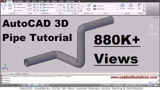 AutoCAD 3D Pipe / 3D Piping Tutorial
