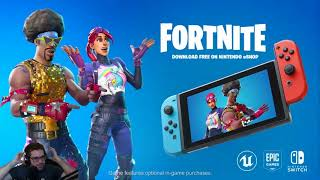 FORTNITE ON NINTENDO SWITCH E3 ANNOUNCEMENT! FREE DOWNLOAD! LIVE REACTION!
