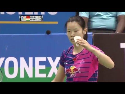 Yonex Sunrise India Open 2016   Badminton SF M4-WS   Li Xuerui vs Saina Nehwal