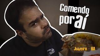 Pizza gigante da Pizzaria Inhac em Juazerio-BA - VLOG Comendo por aí #11