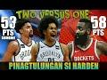 Pinagtulungan si James Harden ng Nets | Harden vs Allen & Dinwiddie Full Duel Highlights