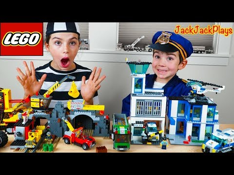 Lego City Police Chase at the Mine Costume Pretend Play Cops & Robbers