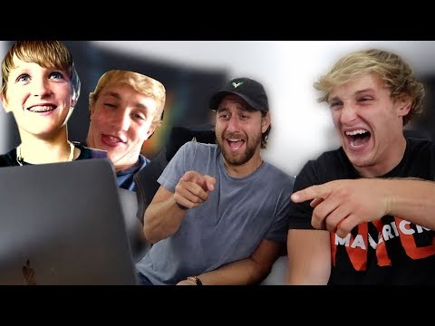 REACTING TO JAKE AND I's OLD YOUTUBE VIDEOS! **cringe**