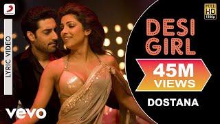 Desi Girl - Dostana | Lyric Video | John | Abhishek | Priyanka