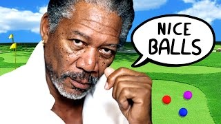 X-RATED MORGAN FREEMAN GOLF (Golf With Your Friends)