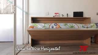 Solteiro Horizontal Retrátil - Moveis Fit