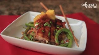 Teriyaki Chicken with Grilled Pineapple and Chinese Long Beans Recipe - Dinner Boot Camp - Episode 4