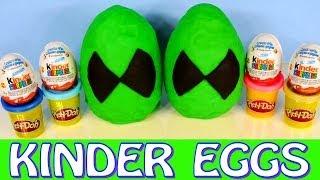 Play Doh Ben 10 Omniverse Giant Kinder Surprise Eggs Play-Doh Ben Ten Cartoon Toys