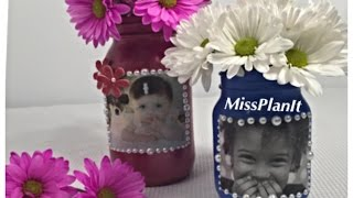 DIY: Quick Tip Personalized Mason Jar Mothers Day Gift for Under  $15.00!